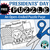 Free Patriotic Puzzle Strips for President's Day