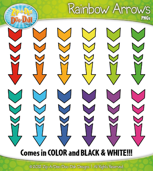 {FREE} Rainbow Arrows Clipart Set — Includes 15 Graphics!