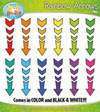 FREE Rainbow Arrows Clipart {Zip-A-Dee-Doo-Dah Designs}