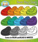 FREE Rainbow Bean Bag Chairs Clipart {Zip-A-Dee-Doo-Dah Designs}
