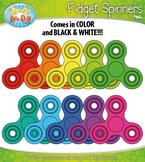 FREE Rainbow Fidget Spinners Clipart {Zip-A-Dee-Doo-Dah Designs}