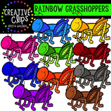 {FREE} Rainbow Grasshoppers {Creative Clips Digital Clipart}