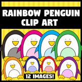 *FREE* Rainbow Penguin Clip Art