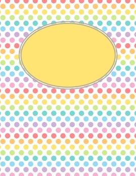 {FREE} Rainbow Polka Dots Binder Covers - Editable!