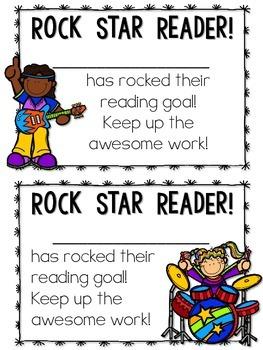*FREE*  Reading Award Certificates ~ Rock Star Reader