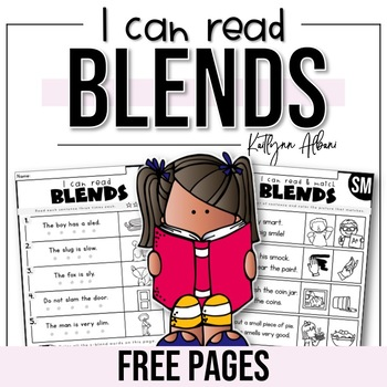[ FREE ] Reading Comprehension Skills - BLENDS Fluency Pages