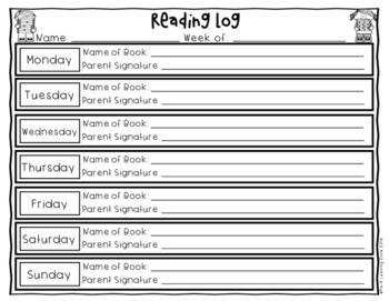(FREE)  Reading Log