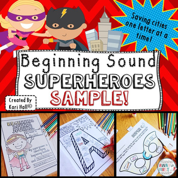 {FREE SAMPLE} Beginning Sound Superheroes! Saving Cities One Letter at a Time!