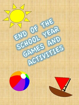 *FREE SAMPLE* End of the Year Games and Activities - All About Summer