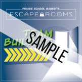 FREE SAMPLE! No-Prep Team Building Escape Room - Back to School Game