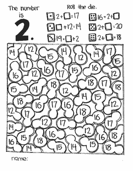 **FREE SAMPLE** The Number Is....MISSING ADDENDS:  ADDITION
