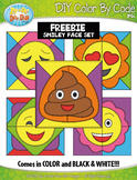 FREE SMILEY FACES Quilt Color By Code Clipart {Zip-A-Dee-D