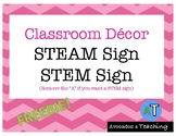 {FREE} STEM sign or STEAM sign