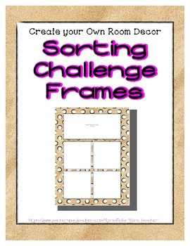 { FREE } Sand Sorting Mat Frames * Create Your Own Dream Classroom / Daycare *