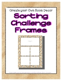 { FREE } Sand Sorting Mat Frames * Create Your Own Dream C