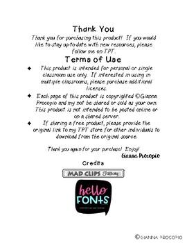 {FREE} Sentence Edit Checklist