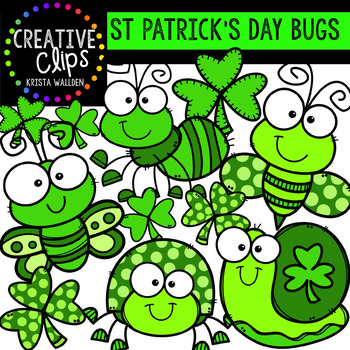 St Patrick's Day Bugs: St. Patrick Clipart {Creative Clips Clipart}
