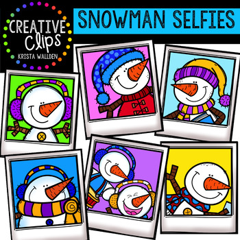 {FREE} Snowman Selfies {Creative Clips Digital Clipart}