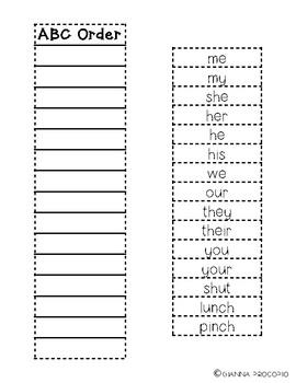 {FREE} Spelling List 1- INB Activities