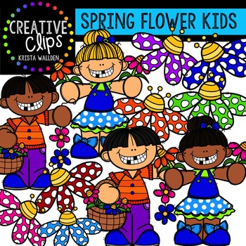 {FREE} Spring Flower Kids {Creative Clips Digital Clipart}