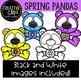 {FREE} Spring Pandas {Creative Clips Clipart}