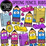 {FREE} Spring Pencil Buds {Creative Clips Clipart}