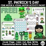 *FREE* St. Patrick's Day - Fine & Visual Motor - Color, Write, Cut, Glue (K)