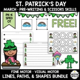 *FREE* St. Patrick's • Pre-Writing, Scissors • Lines, Paths, Shapes • Preschool
