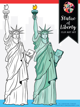 *FREE* Statue of Liberty Clip Art - Western Expansion Collaboration!