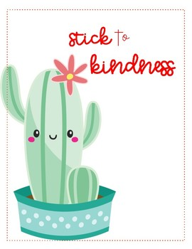 *FREE* Stick to Kindness Poster Set