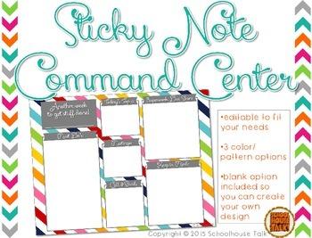 {FREE} Sticky Note Command Center