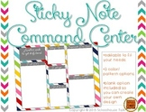{FREE} Sticky Note Command Center