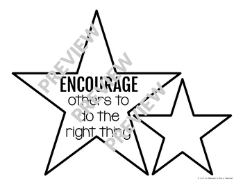 graphic regarding Stars Printable titled No cost! Attempt Celebrities Printable Inspirational Clroom Decor