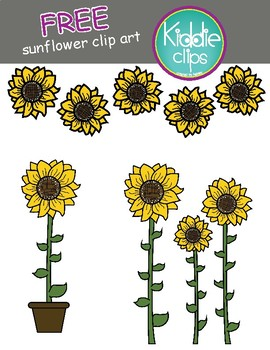 **FREE** Sunflower Clip art