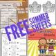 FREE Sunshine Sheets- No Prep