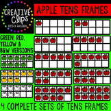 Apple Tens Frames {Creative Clips Digital Clipart}