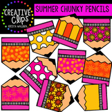 Summer Chunky Pencils {Creative Clips Digital Clipart}
