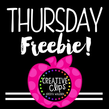 {FREE} Teacher Appreciation Freebie 4 {Creative Clips Digital Clipart}