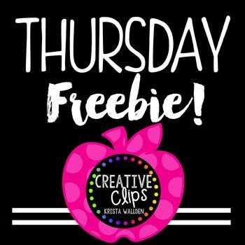 {FREE} Teacher Appreciation Freebie 4 {Creative Clips Digi