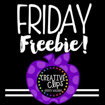 {FREE} Teacher Appreciation Freebie 5 {Creative Clips Digital Clipart}