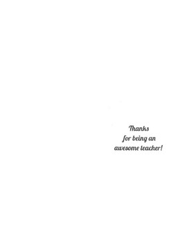 *FREE* Teacher Appreciation/Thank You Templates