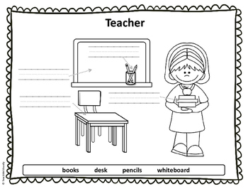 Community Helper Tools - Teacher - Puzzle Parts and Labeling Activity (FREE)