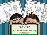 Community Helper Tools - Teacher - Puzzle Parts and Labeli