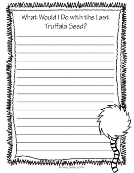 *FREE* The Lorax Writing Pack