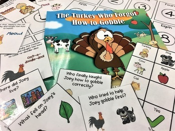 *FREE* The Turkey Who Forgot How to Gobble Mini- Book Companion