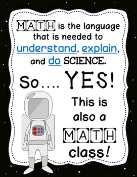 (FREE)  This Science Class is Also a Math and an English Class - Posters