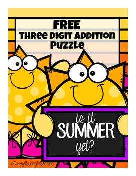 {FREE} Three Addition Math Puzzle