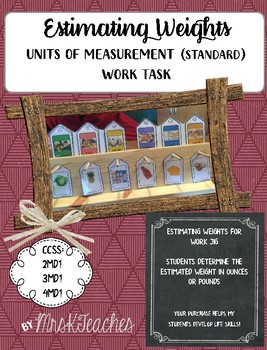 **FREE** Units of Measurement Wright Task **Work Jig Task**Task Boxes**