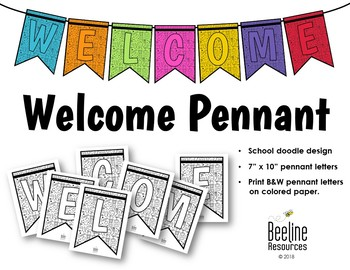 *FREE* Welcome Pennant Banner / School Doodle Design