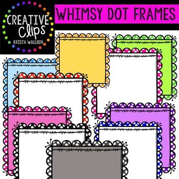 {FREE} Whimsy Dot Frames {Creative Clips Digital Clipart}